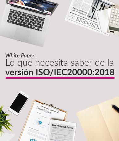 Lo que necesita saber de la versión ISO/IEC20000:2018